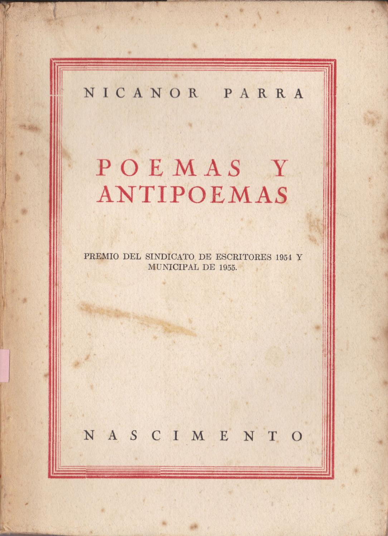 Poemas Y Antipoemas By Nicanor Parra Regular Encuadernación De Tapa Blanda 1956 2ª Edición Eduardo Martínez Moreira