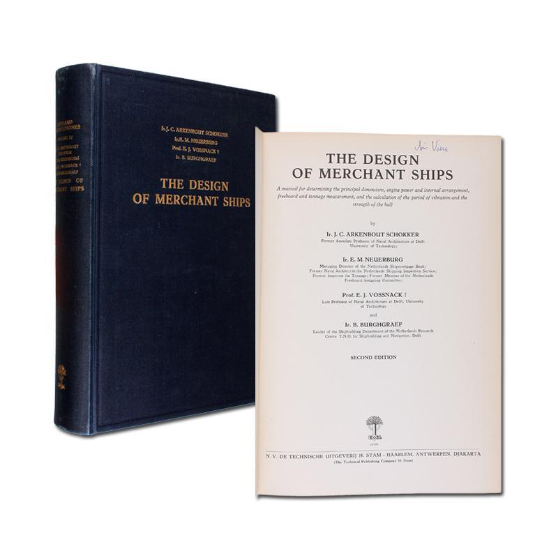 The Design of Merchant Ships. A manual: Schokker, J. C.