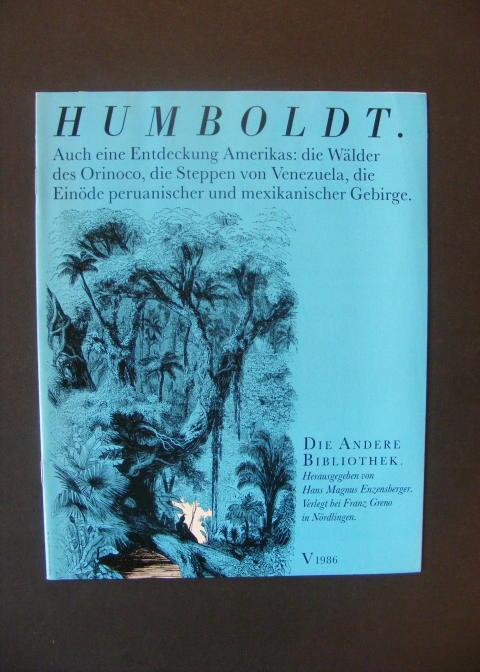 Werbebroschüre - Ansichter der Natur: Humboldt, Alexander von