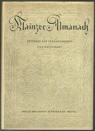 Mainzer Almanach: Beiträge aus Vergangenheit und Gegenwart.: Geßner, Adolf, Ludwig