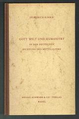 Gott, Welt und Humanität in der deutschen: Ranke, Friedrich: