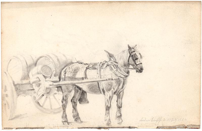 Londoner Bierfuhrwerk.: Deutscher Künstler 1822