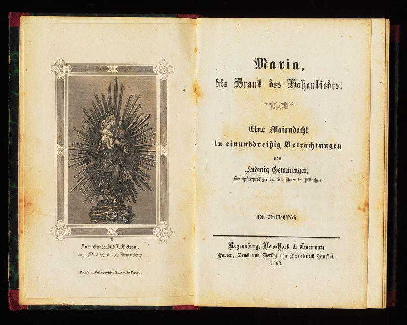 Maria, die Braut des Hohenliedes. Eine Maiandacht: Gemminger, Ludwig: