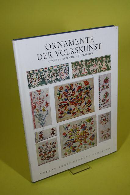 Ornamente der Volkskunst. - Gewebe - Teppiche: Bossert, H. Th.