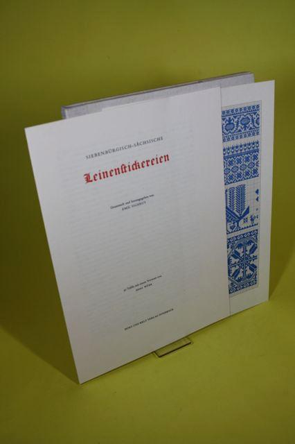 Siebenbürgisch-sächsische Leinenstickereien.: Sigerus, Emil (Hrsg.)