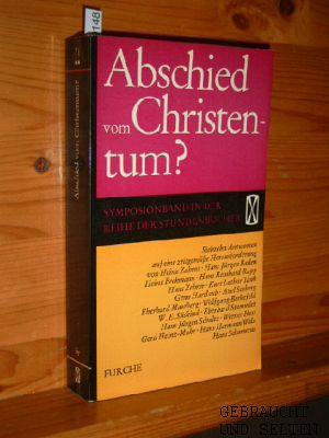Abschied vom Christentum? : 17 Antworten von: Seeberg, Axel und