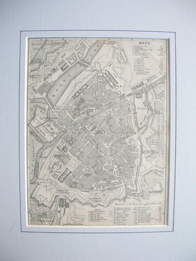 Stadtplan von Metz (Lothringen) //: Metz
