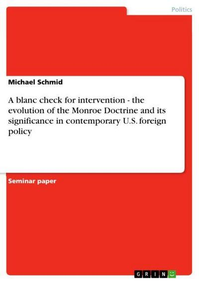 A blanc check for intervention - the: Michael Schmid