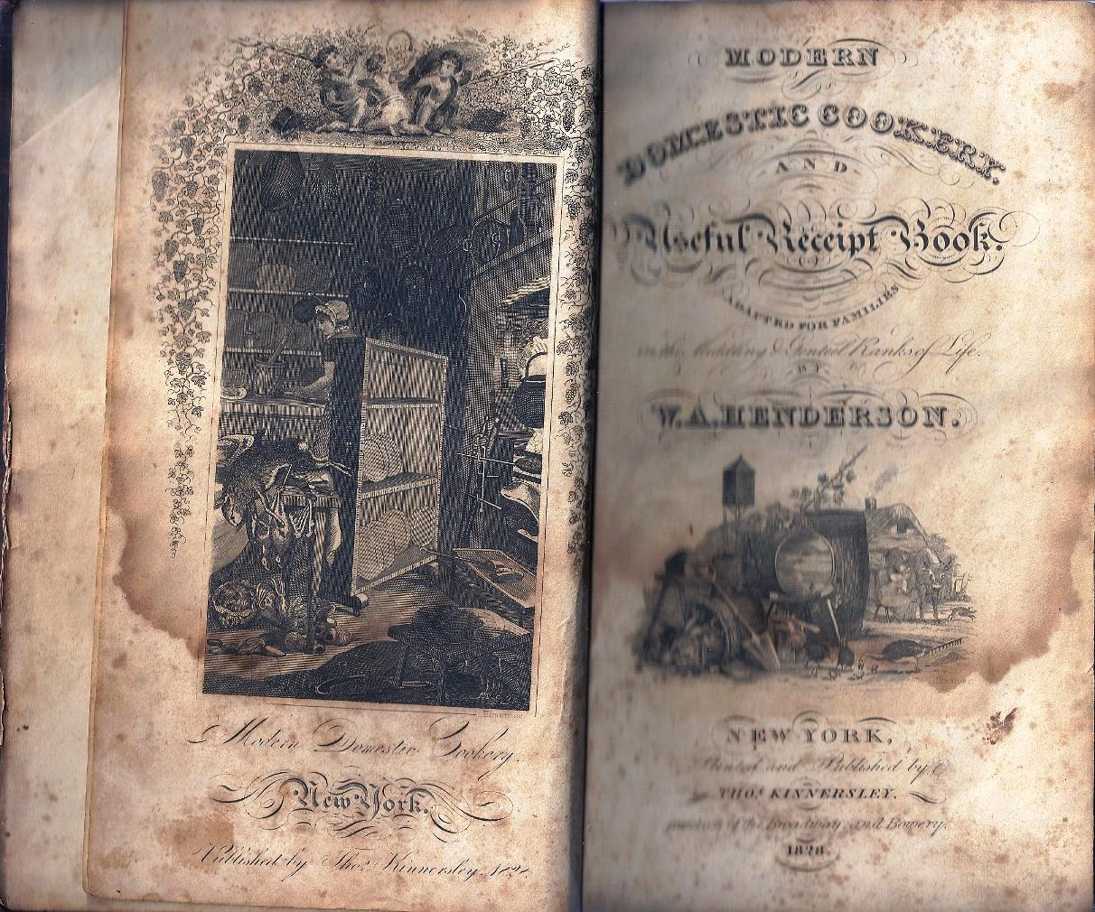 MODERN DOMESTIC COOKERY, AND USEFUL RECEIPT BOOK,: COOKERY] HENDERSON, W.
