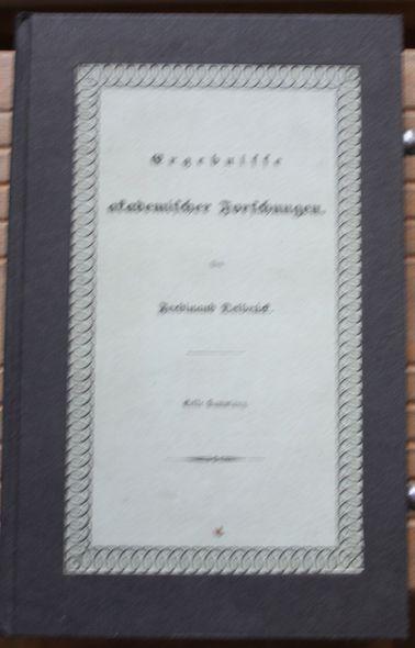 Ergebnisse akademischer Forschungen. Erste Sammlung (apart): Delbrück, Ferdinand: