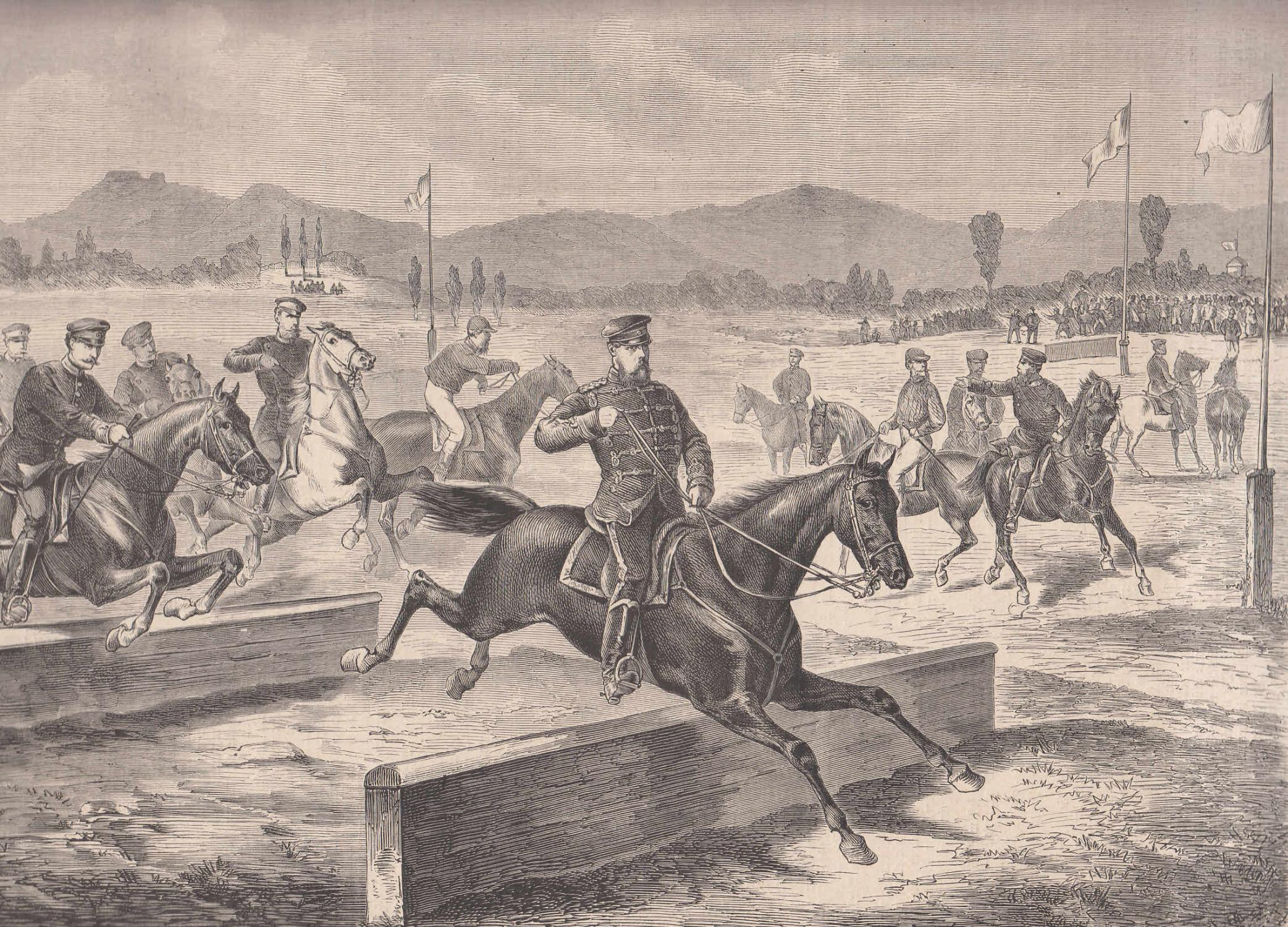 Pferderennen des metzer Sportvereins: Ansicht des Hürdenrennens: Metz,