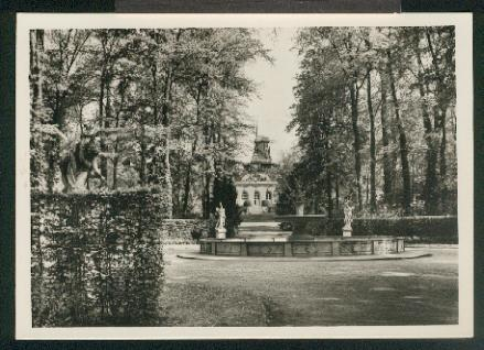 Ansichtskarte: Sannssouci. Neue Kammern und Historische Mühle.: Potsdam,