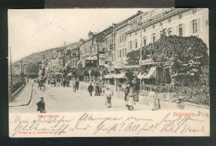 Ansichtskarte: Rheinstraße. 0, s/w, I-II, 1904.: Rüdesheim,