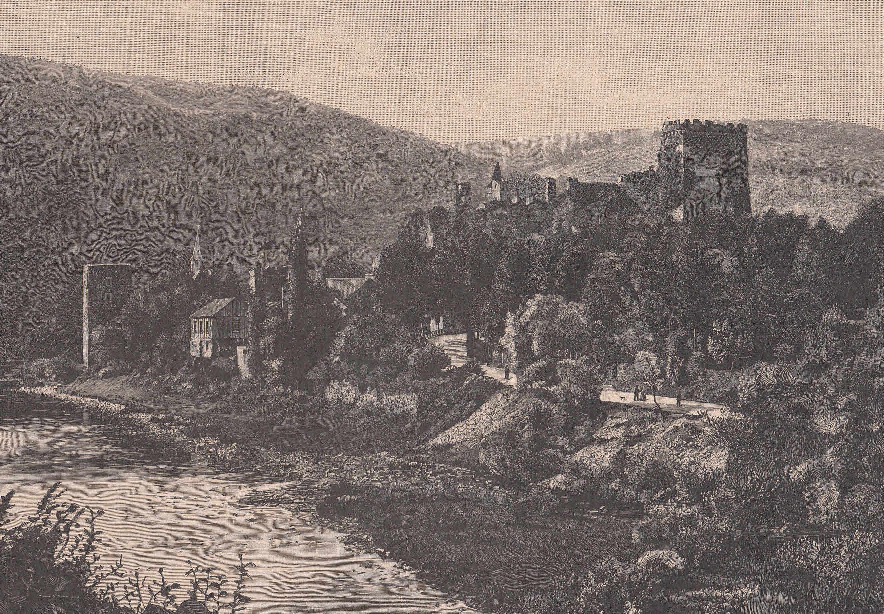 Burg Altwied im Wiedbachtal, der Stammsitz der: Neuwied,