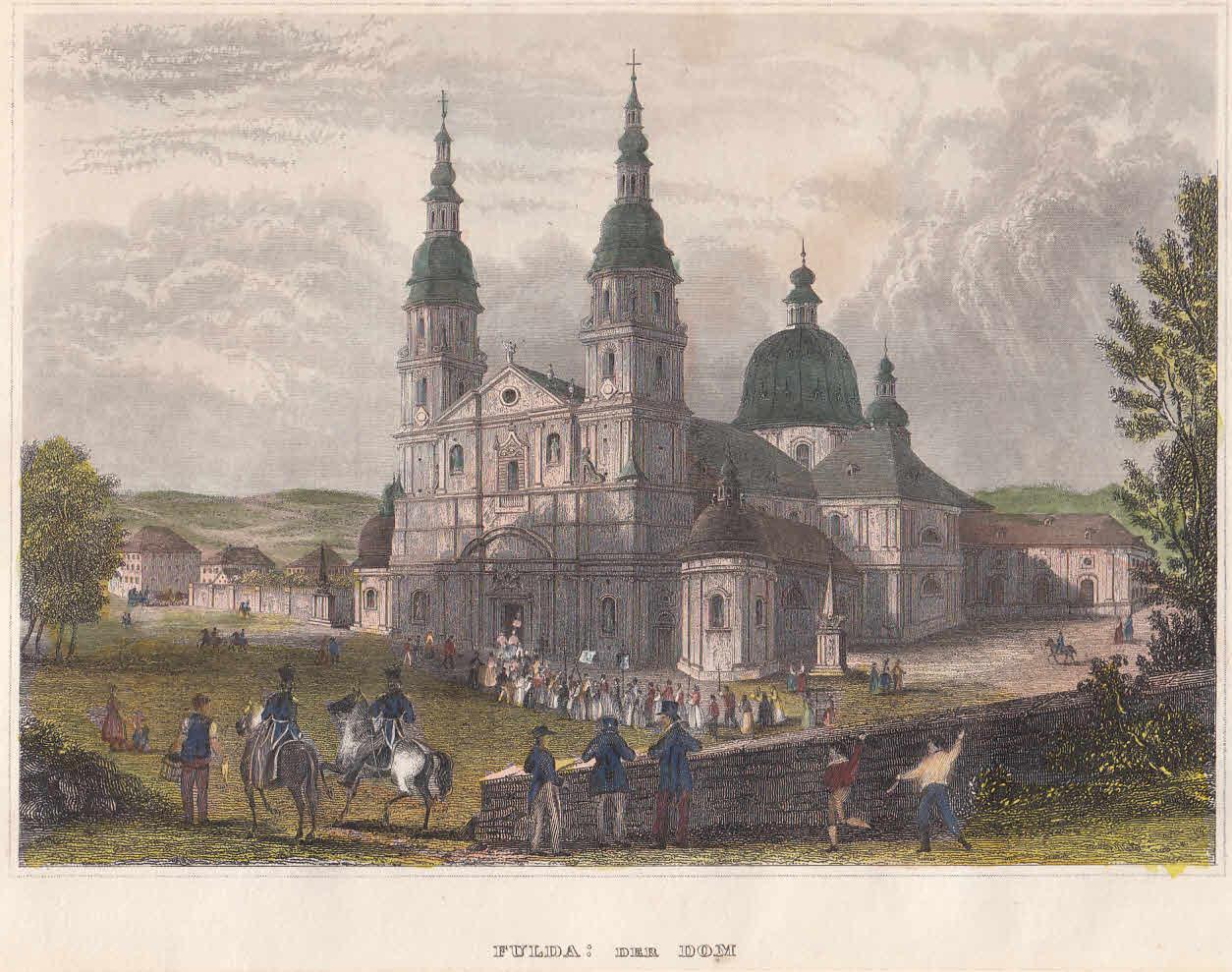 Der Dom. Ansicht mit dem Domplatz.: Fulda,