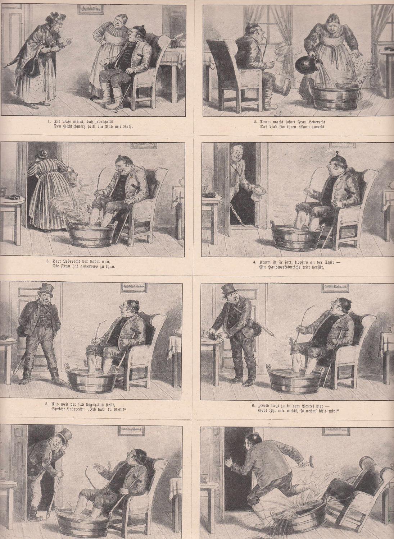Der geheilte Kranke. 8 humoristische Szenen auf: Medizin,