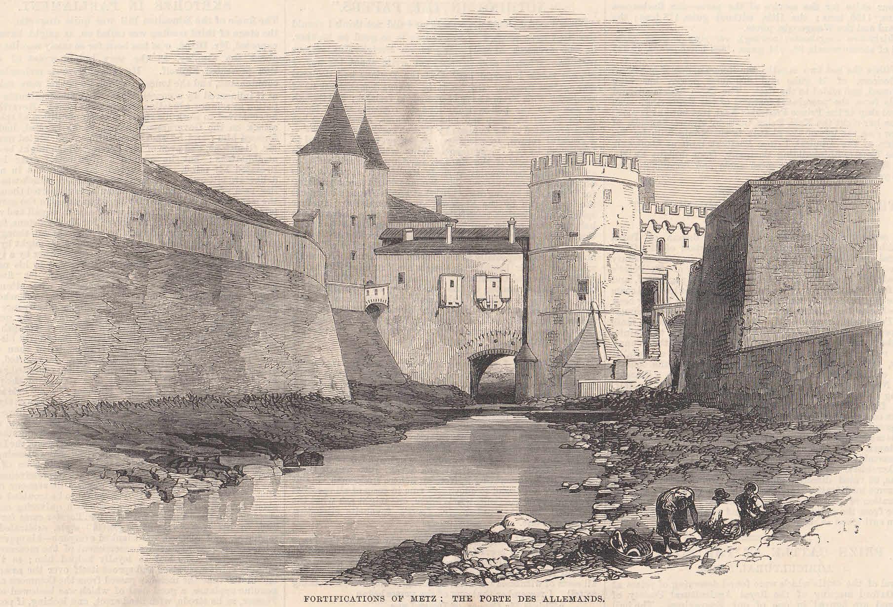 Das Deutsche Tor in Metz. Ansicht vom: Metz,