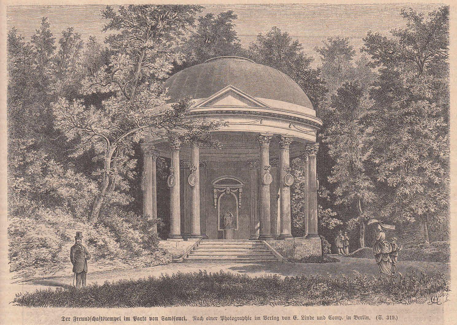 Der Freundschaftstempel im Park von Sanssouci. Ansicht: Potsdam,