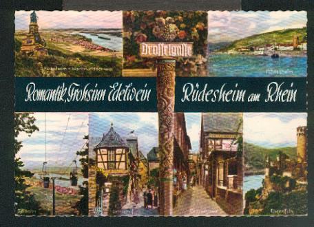 Ansichtskarte: 4 Ansichten. x, col., I, um: Rüdesheim,