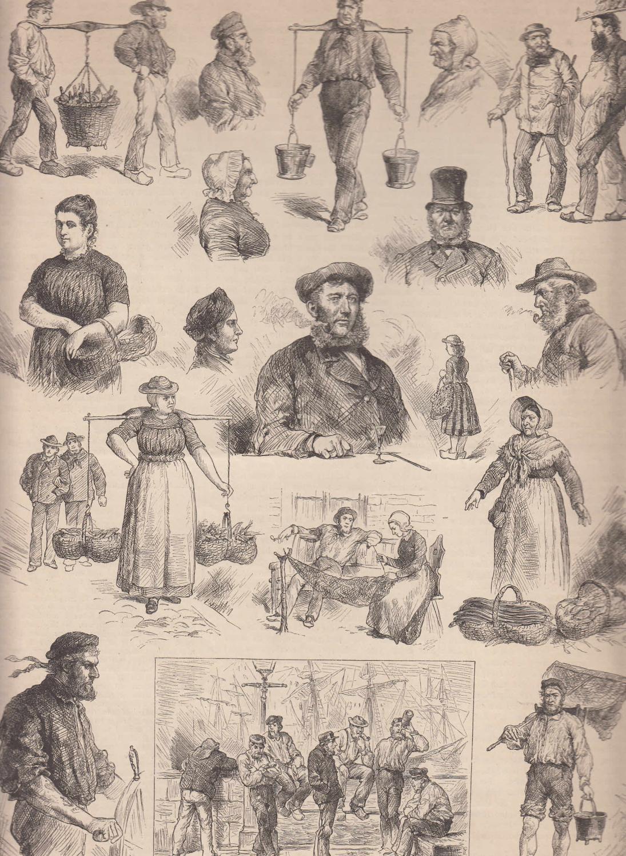 Typen aus Ostfriesland. Eine Vielzahl von Abbildungen: Ostfriesland,