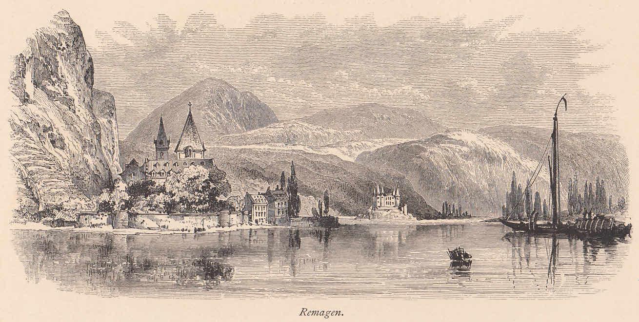 Ansicht über den Rhein.: Remagen,