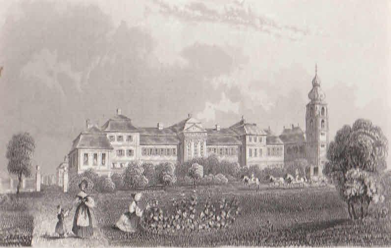 Ansicht von Schloß Fasanerie bei Fulda.: Fulda,
