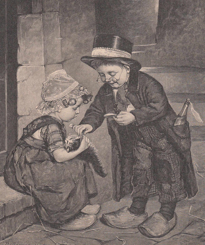 Der kleine Doktor. Kleine Schwester hält das: Medizin,