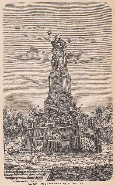 Das Niederwalddenkmal auf dem Niederwald. Ansicht mit: Rüdesheim,