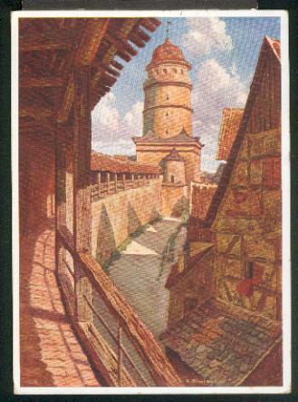Ansichtskarte: Wehrgang am Löpsinger Tor. Nach einem: Nördlingen,