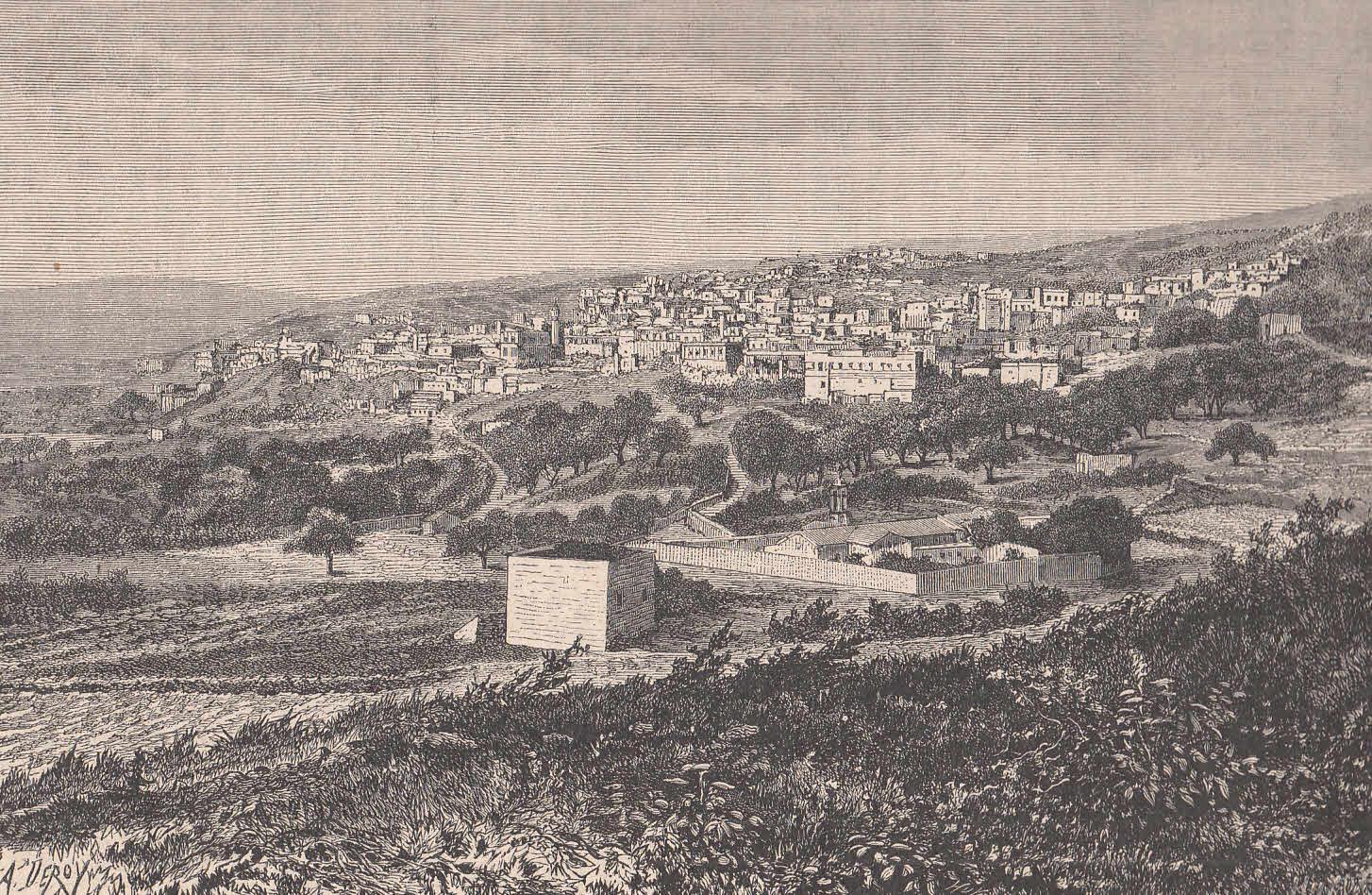 Schöne Gesamtansicht.: Nazareth,