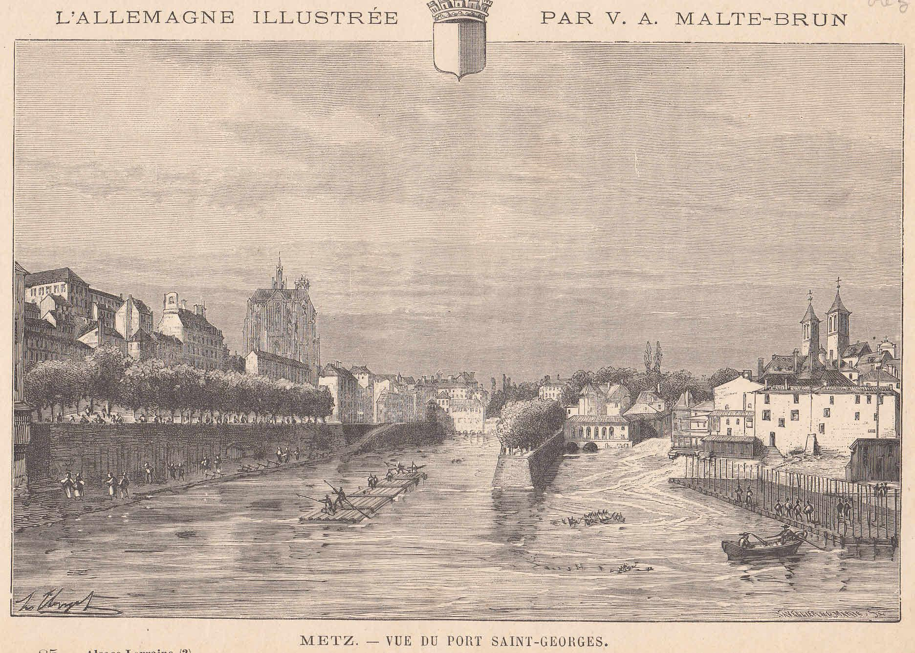 Ansicht von Port Saint-Georges aus.: Metz,