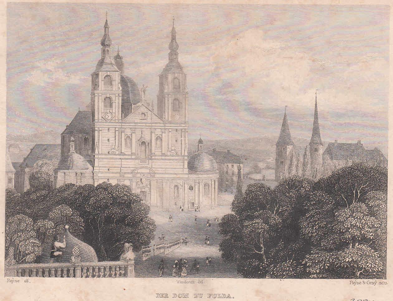 Der Dom zu Fulda. Ansicht von einer: Fulda,