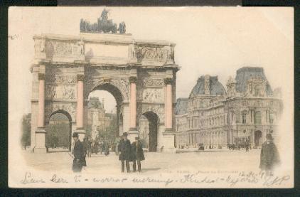Place du Carrousel. 0, col., I-II, 1902.: Paris,