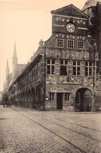 Kanzleigebäude. Ansichtskarte in Lichtdruck. Ungelaufen.: Lübeck -