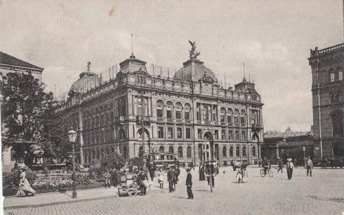 Hauptpostamt. Ansichtskarte in Lichtdruck. Abgestempelt Hannover 27.09.1908.: Hannover -