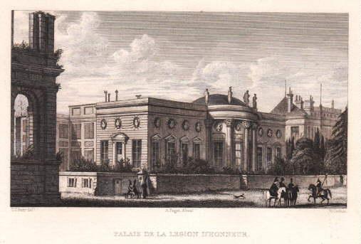 Palais de la Legion D`Honneur. Stahlstich von: Paris -