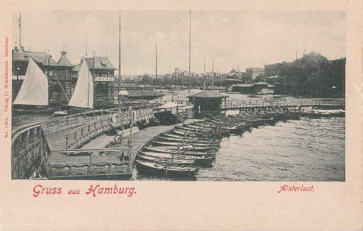 Gruss aus Hamburg. Alsterlust. Ansichtskarte in Lichtdruck.: Hamburg -
