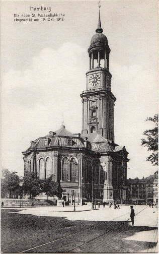 Die neue St.Michaeliskirche, eingeweiht am 19. Okt.: Hamburg -