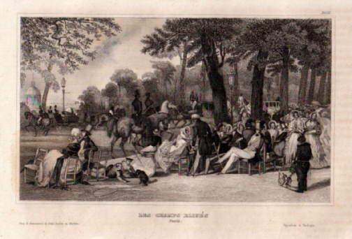 Les Champs Elisés (Die Elysee`schen Felder und: Paris -