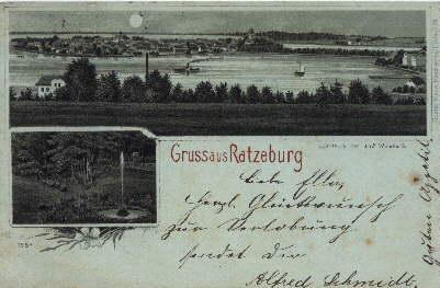 Gruss aus Ratzeburg. Ansichtskarte mit 2 Ansichten: Ratzeburg -