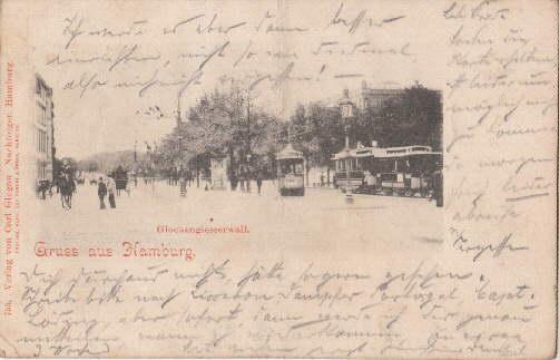 Gruss aus Hamburg. Glockengiesserwall. Ansichtskarte in Lichtdruck.: Hamburg -