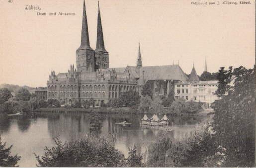 Dom und Museum. Ansichtskarte in Lichtdruck. Ungelaufen.: Lübeck -