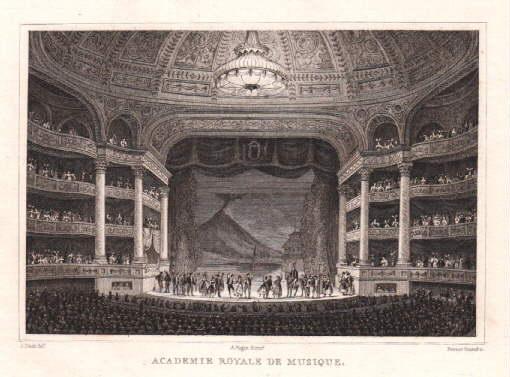 Academie Royale de Musique. Stahlstich von Fenner: Paris -