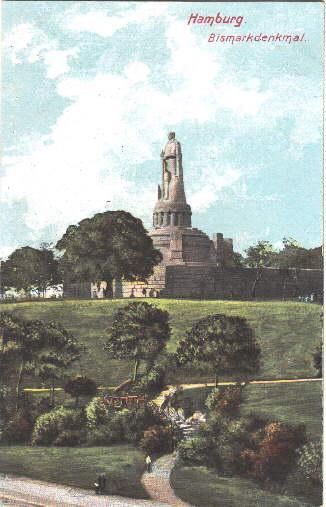 Bismarckdenkmal. Ansichtskarte in farbigem Lichtdruck. Ungelaufen.: Hamburg -