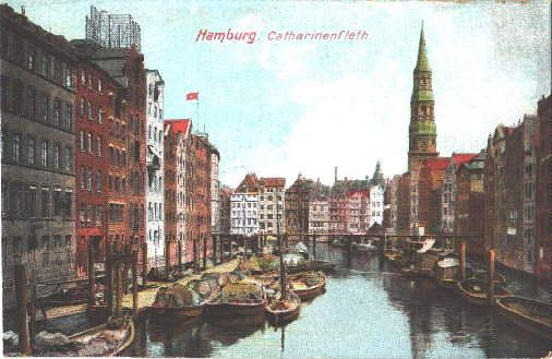 Catharinenfleet. Ansichtskarte in farbigem Lichtdruck. Ungelaufen.: Hamburg -