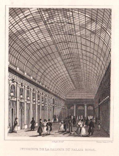 Interieur de la Galerie du Palais Royale.: Paris -