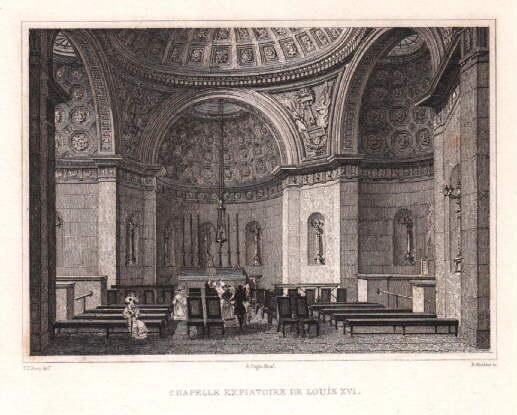 Chapelle Expiatoire de Lous XVI. Stahlstich von: Paris -