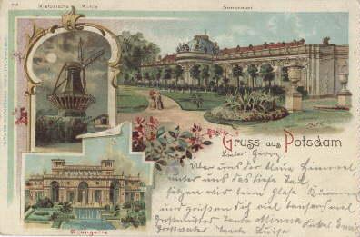 Gruss aus Potsdam. Drei Ansichten (Historische Mühle,: Potsdam -