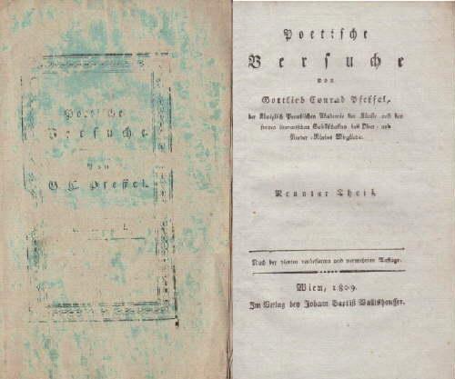 Poetische Versuche. Neunter Theil. Nach der vierten: Pfeffel, Gottlieb Conrad