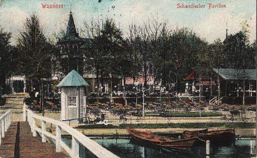Wannsee. Schwedischer Pavillon. Ansichtskarte in farbigem Lichtdruck.: Berlin -